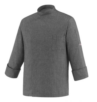 Chef Jacket grey mix